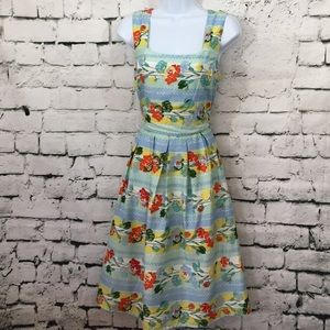 Eucalyptus lined floral dress